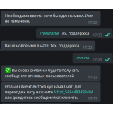Настройка онлайн чата через Telegram из категории Синхронизация для CMS OpenCart (ОпенКарт) фото 5