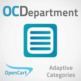 OCDepartment - Категории в брендах, акциях и поиске из категории Поиск для CMS OpenCart (ОпенКарт)