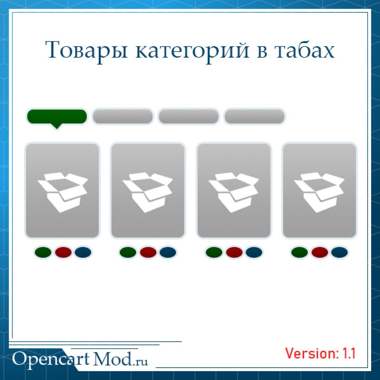 Товары категорий в табах из категории Прочие для CMS OpenCart (ОпенКарт)