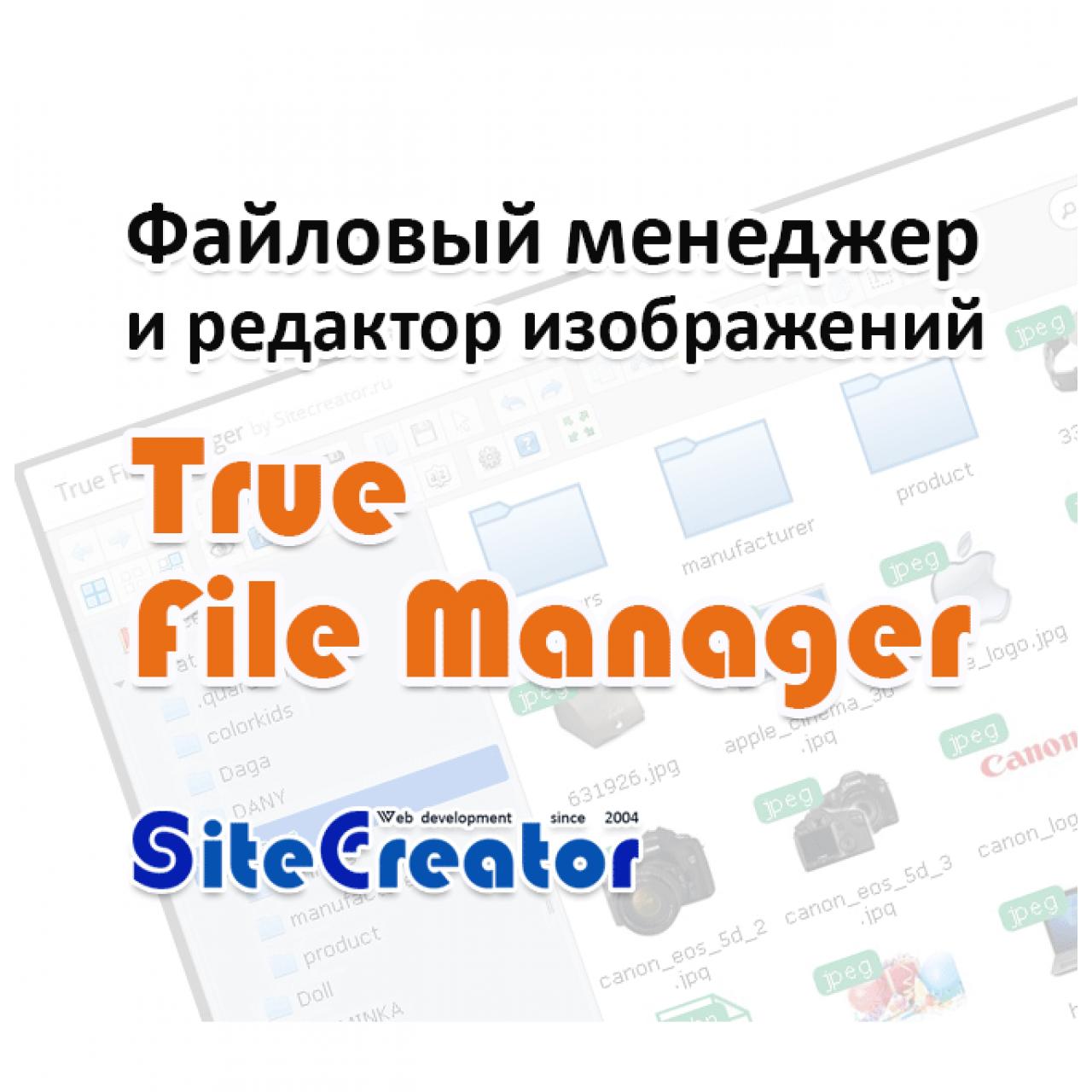 True File Manager - Менеджер и Редактор изображений для opencart 2.* и 3.0 вер. 1.1.0 & 1.3.0 из категории Редакторы для CMS OpenCart (ОпенКарт)