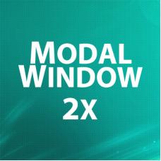 Modal Window 2x - всплывающее окно подтверждения / информации