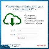 Управление файлами для скачивания Pro из категории Админка для CMS OpenCart (ОпенКарт)