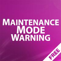 Maintenance Mode Warning - информация о режиме обслуживания