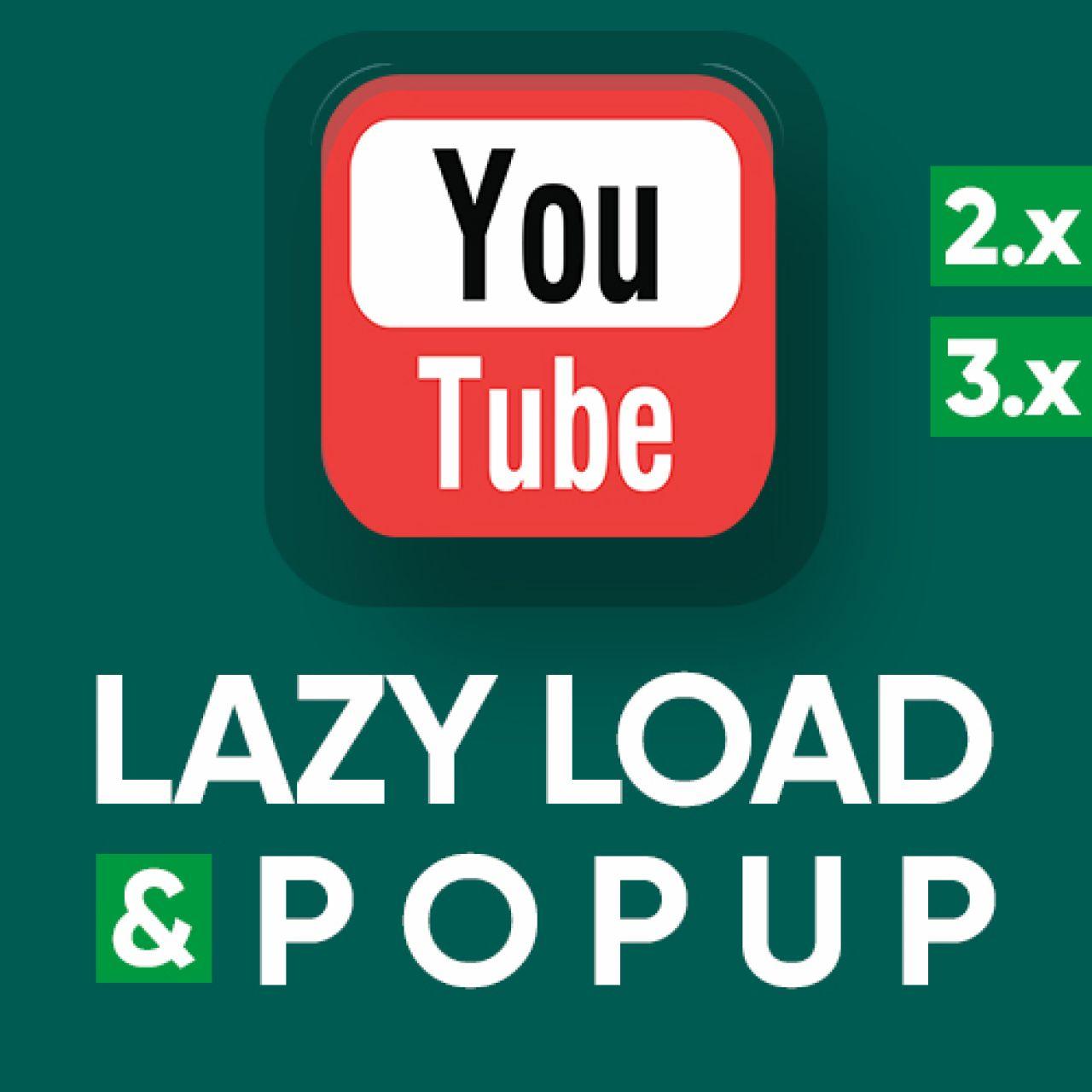YouTube lazy load & popup - оптимизация и кастомизация iframe | увеличение pagespeed из категории Кэширование, Сжатие, Ускорение для CMS OpenCart (ОпенКарт)