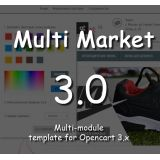 Multi Market 3.0 Filter - многомодульный с фильтром адаптивный шаблон 3.0 NEW template из категории Шаблоны для CMS OpenCart (ОпенКарт)