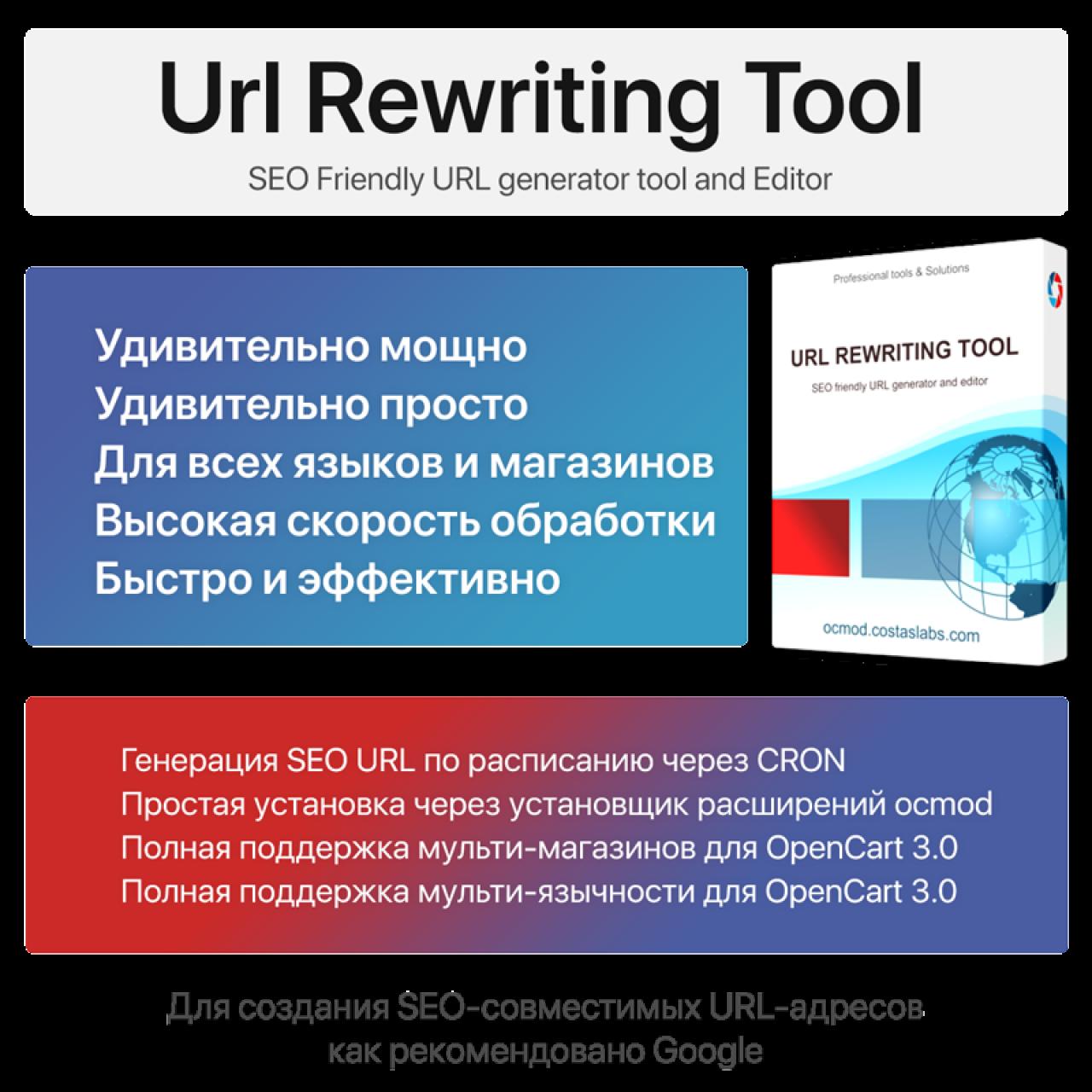 Url Rewriting Tool из категории SEO, карта сайта, оптимизация для CMS OpenCart (ОпенКарт)