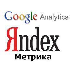 Установка счётчика метрики Яндекс Метрика или Google Analytics